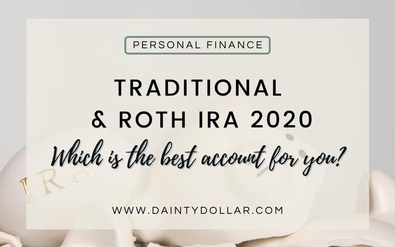 Traditional & Roth IRA 2020 - Dainty Dollar LLC