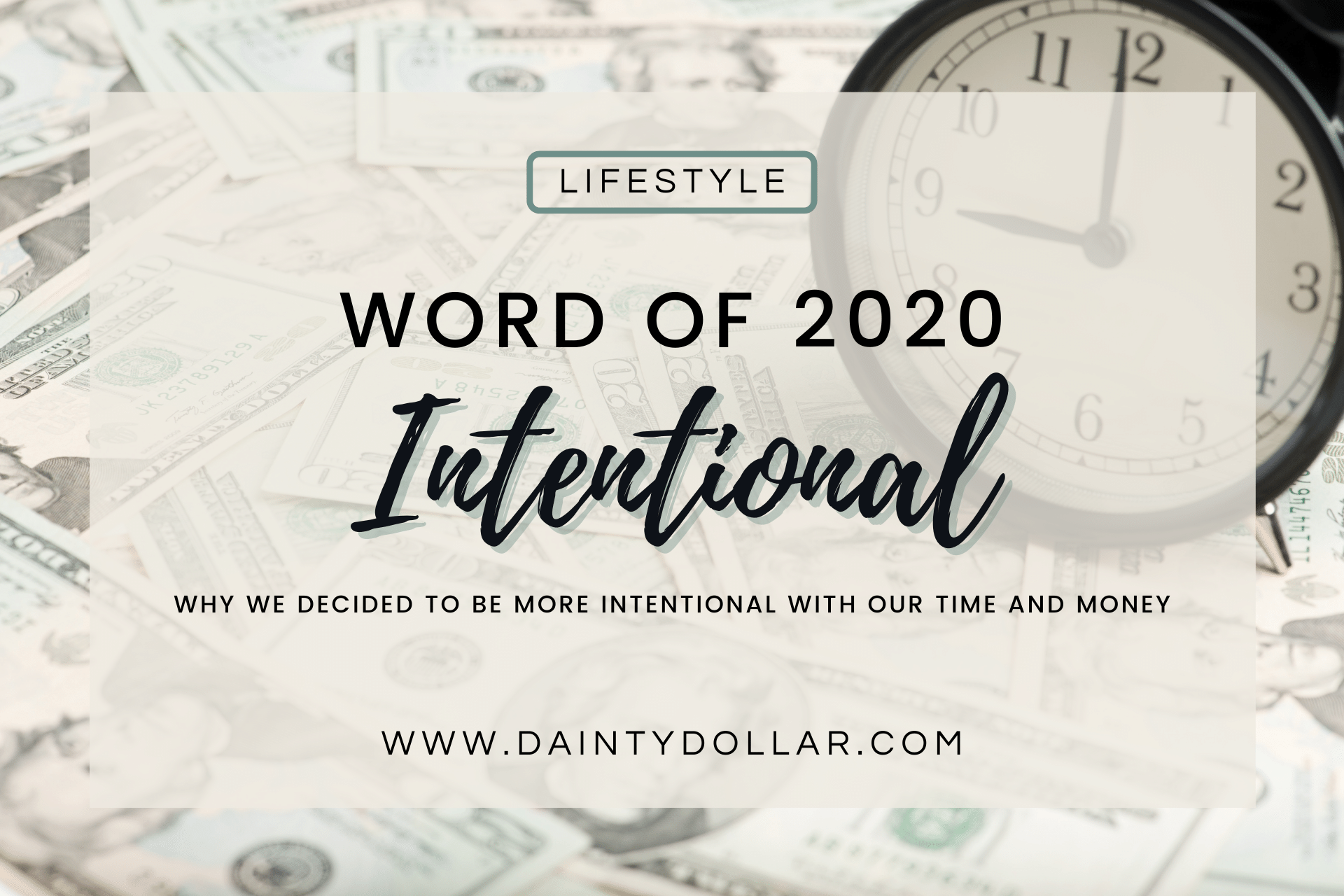 Word of 2020 Intentional - Lifestyle - Dainty Dollar